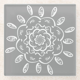 石造りの曼荼羅 ガラスコースター