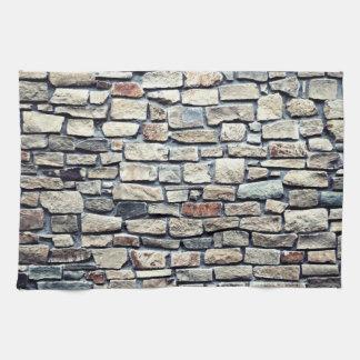 石造りの石の壁の質 キッチンタオル