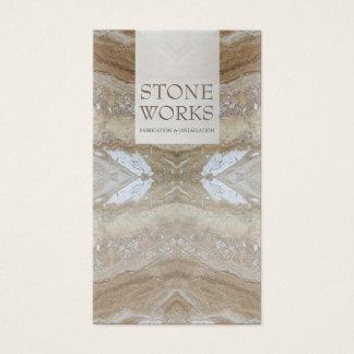 石造りの製作は贅沢な名刺を働かせます 名刺