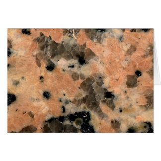 石造りの質: ピンクの花こう岩 カード