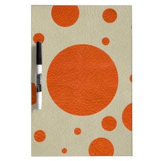 石造りの革プリントのオレンジによって分散させる点 ホワイトボード