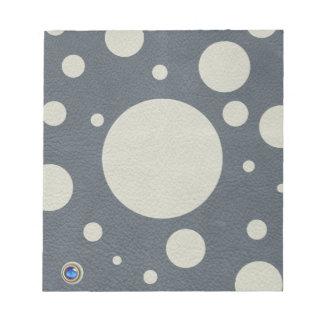 石造りの革プリントの灰色によって分散させる点 ノートパッド