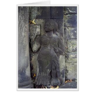 石造りカードの女性 カード