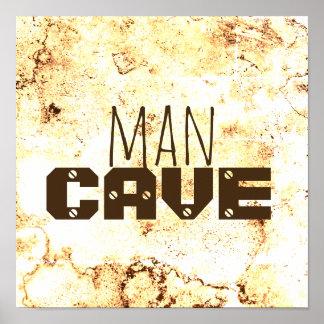 石造りパターンの人の洞窟の引用文ポスターはっきりしたな文字 ポスター