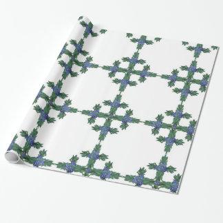 石造りユリのケルト十字パターンギフト用包装紙 ラッピングペーパー