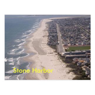 石造り港のビーチのアンテナ ポストカード