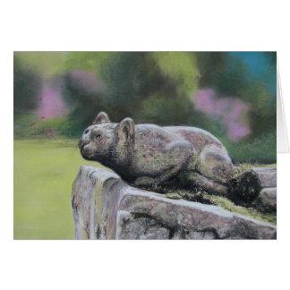 石造り猫 カード