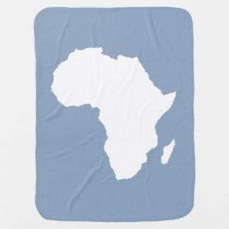 石青く大胆なアフリカ ベビー ブランケット