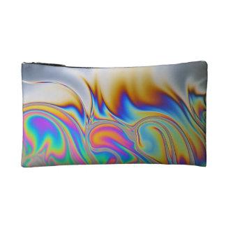 石鹸の泡のマクロ写真 コスメティックバッグ