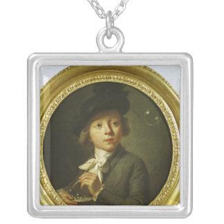石鹸の泡1784年 シルバープレートネックレス