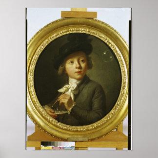 石鹸の泡1784年 ポスター