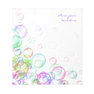 石鹸の泡 ノートパッド