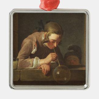 石鹸の泡、c. 1733年- 34 (キャンバスの油) メタルオーナメント