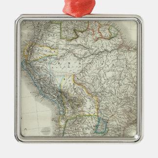 石鹸水アメリカ-南アメリカ メタルオーナメント