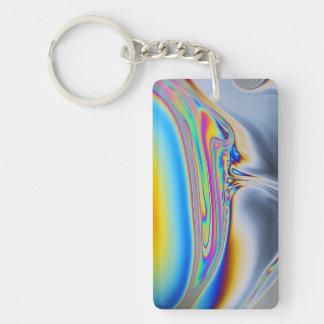 石鹸薄膜のマクロ写真 キーホルダー