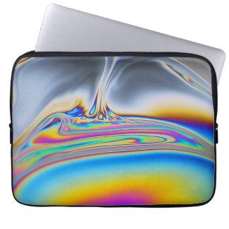 石鹸薄膜のマクロ写真 ラップトップスリーブ