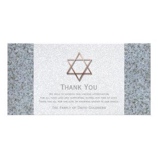 石3の悔やみや弔慰銅のダビデの星は感謝していしています カード