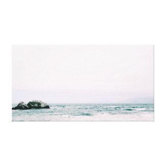 石|の海|の海|水 キャンバスプリント