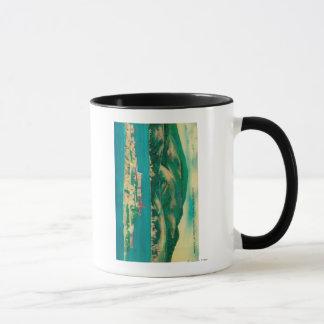 石、アルカトラズ島およびサンフランシスコ マグカップ