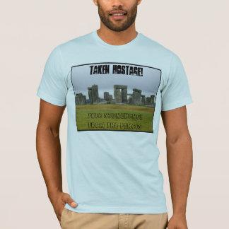石-取られた人質--を放して下さい Tシャツ