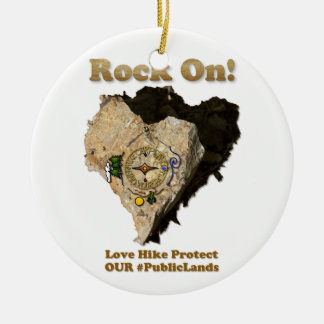 石! 愛ハイキングは私達の公有地を保護します セラミックオーナメント