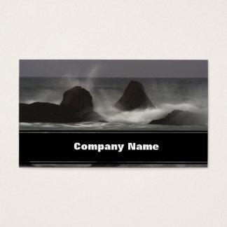 石-白いポイントビーチ、NS 名刺