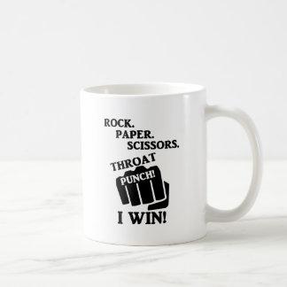 石、紙、はさみ、喉の穿孔器! 私は勝ちます! コーヒーマグカップ