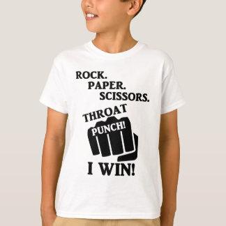石、紙、はさみ、喉の穿孔器! 私は勝ちます! Tシャツ