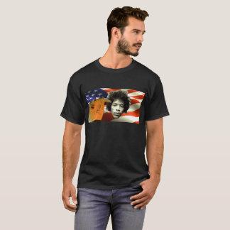 石Nロールギター音楽愛国者のTシャツ Tシャツ