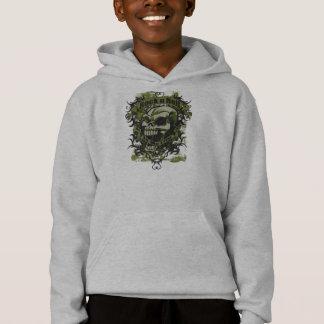 石nロールスカルのフード付きスウェットシャツ