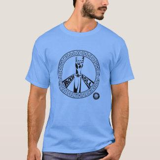 石Nロールピースサイン(黒) Tシャツ