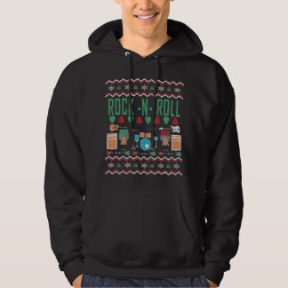 石nロール醜いクリスマスのセーター パーカ