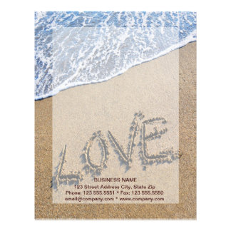 砂によって書かれるレターヘッドに愛して下さい レターヘッド