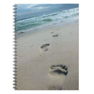 砂のノートの足跡 ノートブック