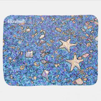 砂のベビーブランケットの抽象的な貝殻 ベビー ブランケット