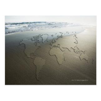 砂の世界地図 ポストカード