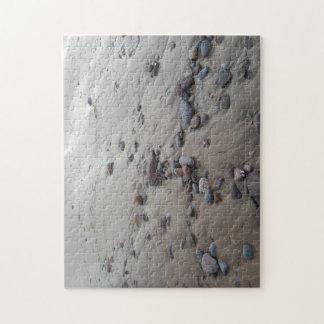 砂の写真のパズルの小石 ジグソーパズル