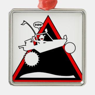 砂の柵の空気危険のシンボルや象徴 メタルオーナメント