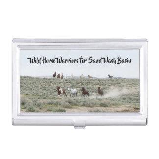 砂の洗面器のための野生の馬の戦士 名刺入れ