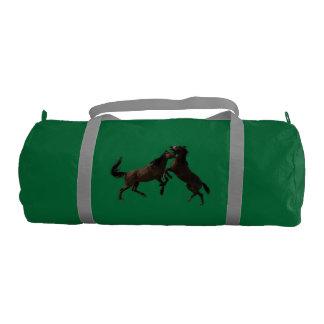 砂の洗面器の野生の種馬 ジムバッグ