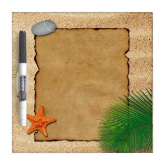 砂の背景-ホワイトボードの羊皮紙 ホワイトボード