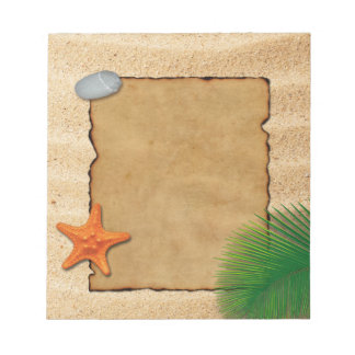 砂の背景-メモ帳の羊皮紙 ノートパッド