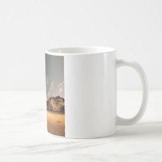 砂の自然の砂漠の海 コーヒーマグカップ