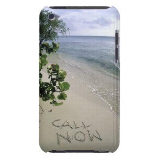 砂をビーチ、ジャマイカで書かれて「今」呼んで下さい Case-Mate iPod TOUCH ケース
