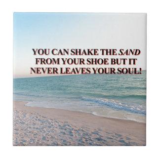 砂を揺すって下さい! 正方形タイル小