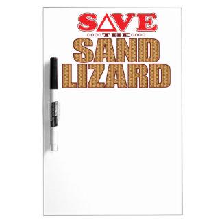 砂トカゲの保存 ホワイトボード