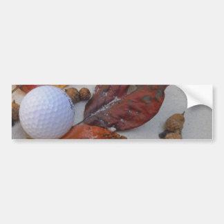 砂トラップの紅葉そしてゴルフ・ボール バンパーステッカー