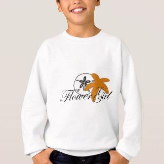 砂ドルのヒトデのフラワー・ガール スウェットシャツ