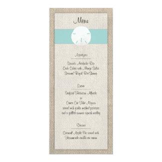 砂ドルのビーチ結婚式メニュー カード