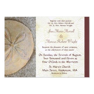 砂ドルの結婚式招待状 カード
